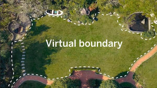 Segway Navimov control virtual boundary